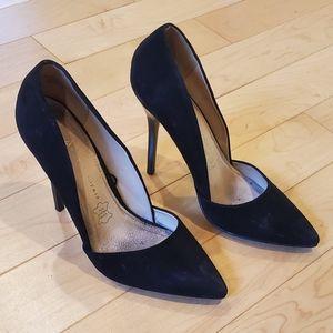 ATMOSPHERE - Black Leather Stilettos